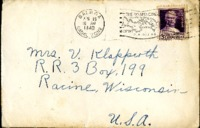 Letter from Daniel Klapproth to his mother while stationed in Canal Zone, April 17, 1940