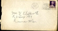Letter from Daniel Klapproth to his mother while stationed in Balboa, Canal Zone, February 25, 1940