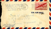 Letter from Daniel Klapproth to his mother while stationed in Canal Zone, October 9, 1942