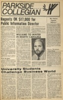 Parkside Collegian, Volume 1, issue 6, January 26, 1970