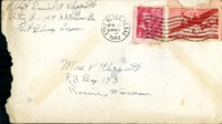 Letter from Daniel Klapproth to his mother while stationed in Fort Bliss, Texas, April 21, 1944