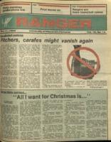 The Parkside Ranger, Volume 15, issue 14, December 11, 1986