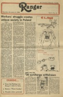 The Parkside Ranger, Volume 9, issue 14, December 11, 1980