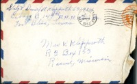 Letter from Daniel Klapproth to his mother while stationed in Fort Bliss, Texas, October 26, 1943
