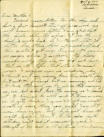 Letter from Daniel Klapproth to his mother while stationed in Fort Bliss, Texas, April 6, 1944
