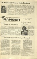 The Parkside Ranger, Volume 1, issue 23, March 28, 1973