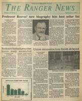 The Ranger News, Volume 20, issue 2, September 5, 1991