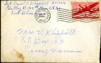 Letter from Daniel Klapproth to his mother while stationed in Fort Bliss, Texas, July 2, 1943