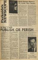 Parkside's Newscope, Volume 2, Issue 4, October 19, 1970