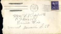 Letter from Daniel Klapproth to his mother while stationed in Fort Slocum, New York, December 10, 1939