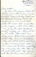 Letter from Daniel Klapproth to his mother while stationed in Fort Bliss, Texas, April 7, 1943