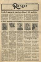 The Ranger, Volume 8, issue 22, February 28, 1980