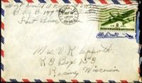 Letter from Daniel Klapproth to his mother while stationed in Fort Bliss, Texas, October 17, 1944