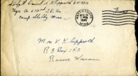 Letter from Daniel Klapproth to his mother while stationed in Camp Shelby, Mississippi , April 15, 1945