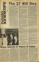 Parkside's Newscope, Volume 2, Issue 11, December 3, 1970