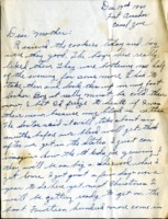 Letter from Daniel Klapproth to his mother while stationed in Fort Amador, Canal Zone, December 17, 1940