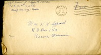 Letter from Daniel Klapproth to his mother while stationed in Camp Maxey, Texas , January 9, 1945