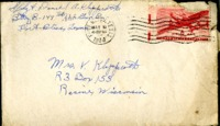 Letter from Daniel Klapproth to his mother while stationed in Fort Bliss, Texas, March 6, 1944