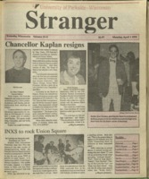 The Stranger, Volume 19, issue X, April 1, 1991