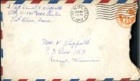 Letter from Daniel Klapproth to his mother while stationed in Fort Bliss, Texas, November 22, 1943