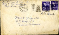 Letter from Daniel Klapproth to his mother while stationed in Fort Bliss, Texas, December 3, 1943