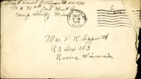 Letter from Daniel Klapproth to his mother while stationed in Camp Shelby, Mississippi , February 20, 1945