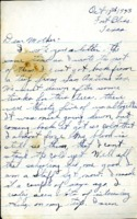 Letter from Daniel Klapproth to his mother while stationed in Fort Bliss, Texas, October 17, 1943