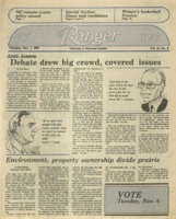 The Parkside Ranger, Volume 13, issue 9, November 1, 1984