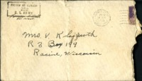Letter from Daniel Klapproth to his mother while stationed in Fort Kobbe, Canal Zone, December 22, 1941