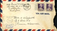 Letter from Daniel Klapproth to his mother while stationed in Fort Clayton, Canal Zone, June 21, 1942