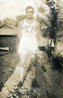 Daniel Klapproth poses for a photograph in sports clothing