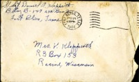 Letter from Daniel Klapproth to his mother while stationed in Fort Bliss, Texas, February 14, 1944