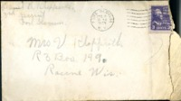 Letter from Daniel Klapproth to his mother while stationed in Fort Slocum, New York, December 4, 1939
