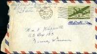 Letter from Daniel Klapproth to his mother while stationed in Fort Bliss, Texas, October 8, 1944