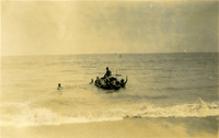 A boat and a group of men