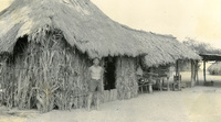 A man and a hut