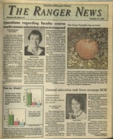 The Ranger News, Volume 20, issue 10, October 31, 1991