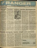 The Parkside Ranger, Volume 16, issue 6, October 8, 1987
