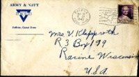 Letter from Daniel Klapproth to his mother while stationed in Fort Amador, Canal Zone, May 25, 1940