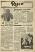 The Parkside Ranger, Volume 9, issue 28, April 30, 1981