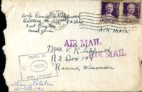 Letter from Daniel Klapproth to his mother while stationed in Fort Clayton, Canal Zone, May 5, 1942