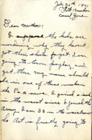 Letter from Daniel Klapproth to his mother while stationed in Fort Amador, Canal Zone, July 26, 1941