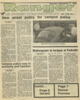 The Parkside Ranger, Volume 18, issue 1, September 7, 1989