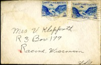 Letter from Daniel Klapproth to his mother while stationed in Fort Amador, Canal Zone, 1940, December