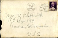 Letter from Daniel Klapproth to his mother while stationed in Fort Amador, Canal Zone, May 7, 1940
