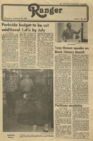 The Parkside Ranger, Volume 9, Issue 20, February 26, 1981