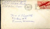 Letter from Daniel Klapproth to his mother while stationed in Fort Bliss, Texas, January 20, 1944