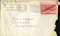 Letter from Daniel Klapproth to his mother while stationed in Fort Bliss, Texas, July 27, 1943
