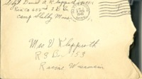 Letter from Daniel Klapproth to his mother while stationed in Camp Shelby, Mississippi , June 3, 1945