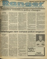 The Parkside Ranger, Volume 18, issue 8, October 26, 1989
